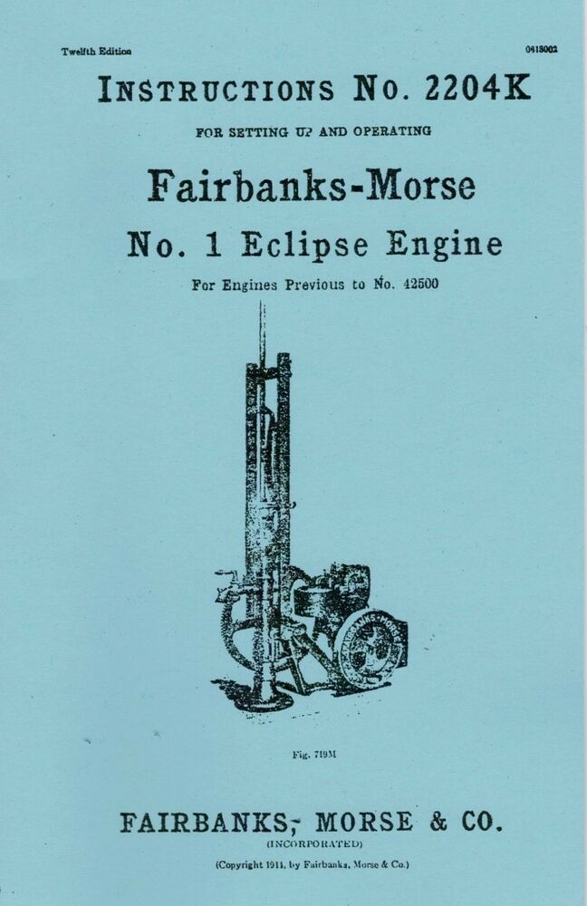 Fairbanks Morse light Plant Manual on
