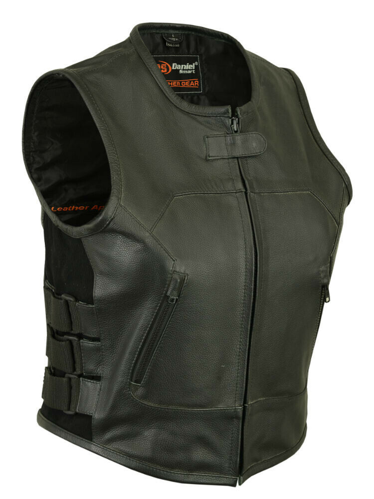 Ladies Womens Adjustable Swat Style Biker Motorcycle Vest