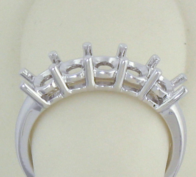 5 Stone Ring Mounting 14k Gold For 1 4 Ct 0 25ct Each