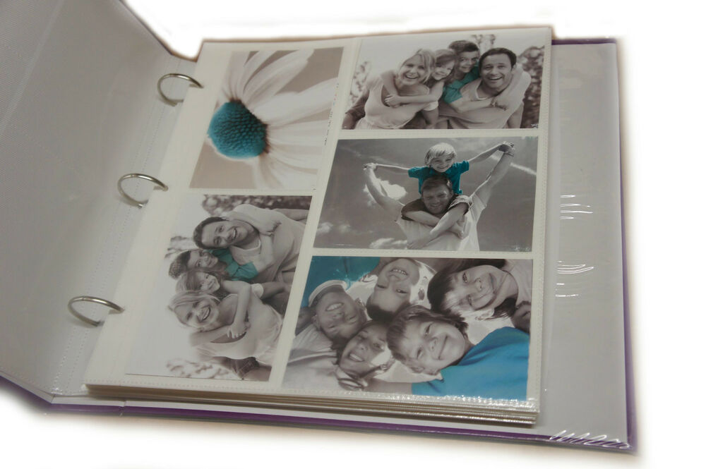 20 refill sheet holds 200 photos for large 6x4 ringbinder photo album al 6774 ebay. Black Bedroom Furniture Sets. Home Design Ideas