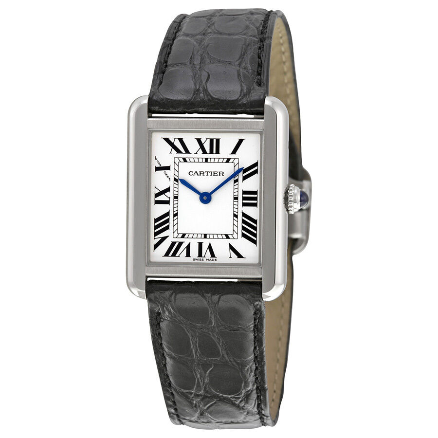cartier tank solo steel small ladies watch w5200005. Black Bedroom Furniture Sets. Home Design Ideas