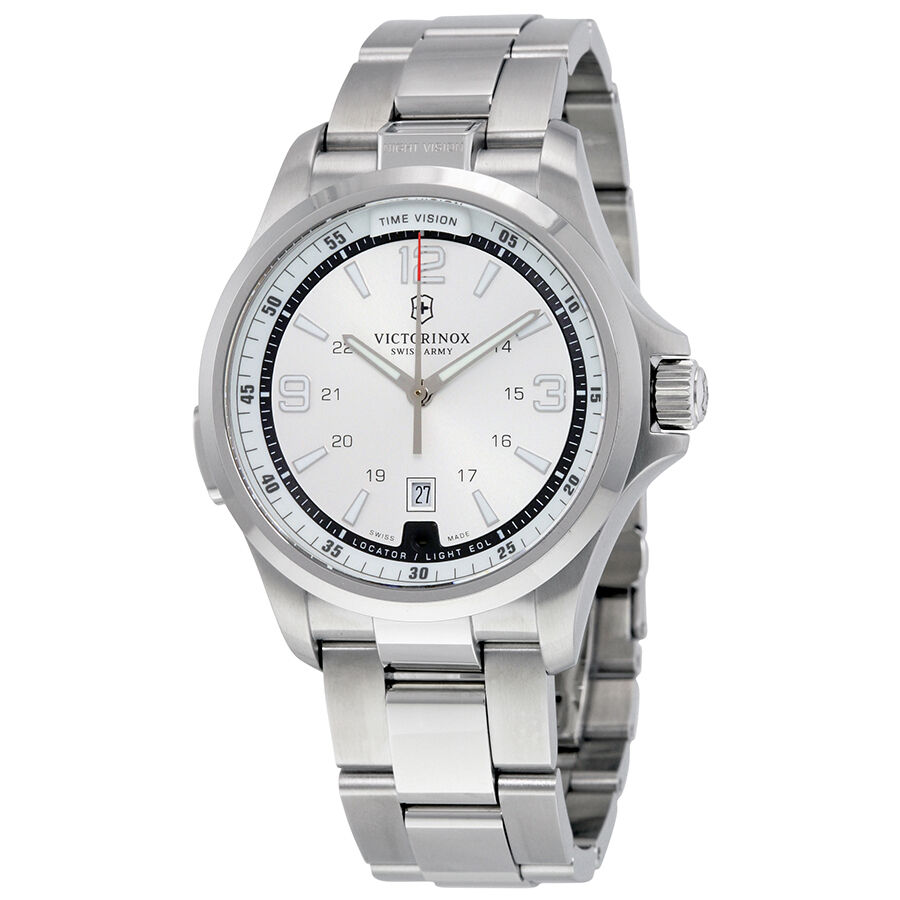 Victorinox swiss army night vision steel mens watch 241571 ebay for Watches on ebay