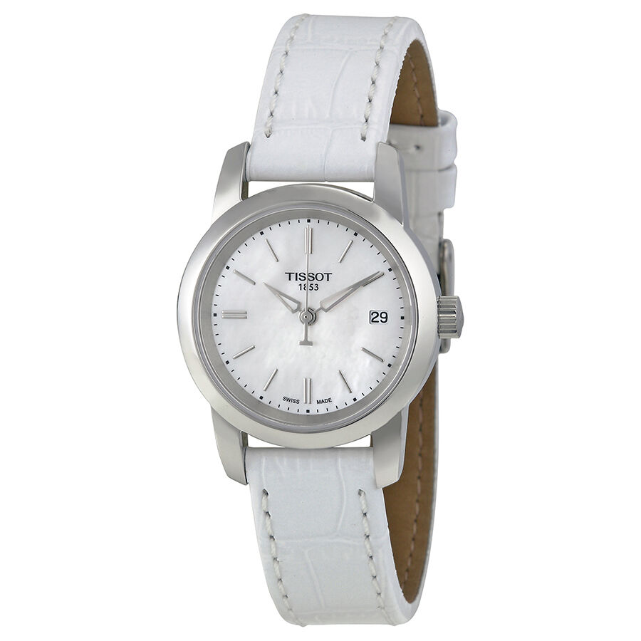 Tissot classic dream mother of pearl dial ladies watch t0332101611100 ebay for Mother of pearl dial watch