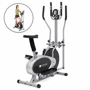 Elliptical Bike 2 IN 1 Cross Trainer Exercise Fitness Machine