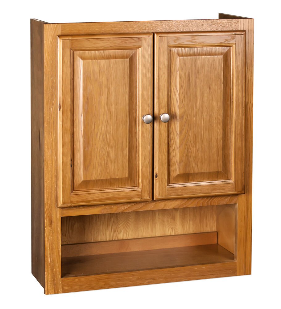 Bathroom Wall Cabinet 21x26 Oak Ebay