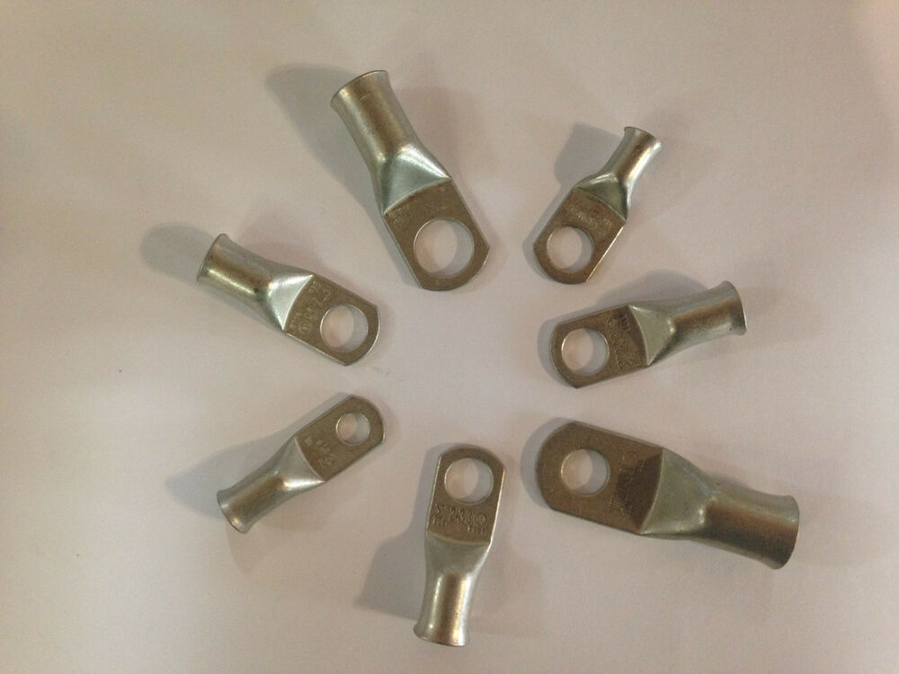 Tinned Copper Cable Lugs Ring Terminals Various Awg Sizes
