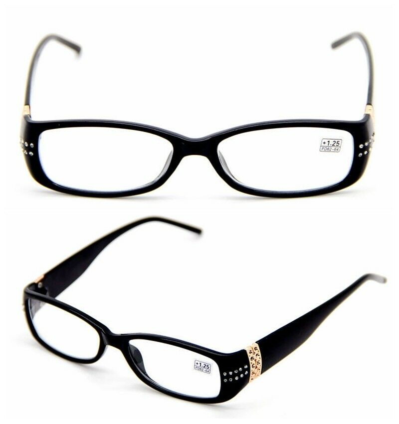 Womens Reading Glasses Black Frame Design Cute Readers ...