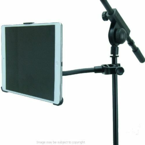 dedicated music microphone stand mount for the ipad air ebay. Black Bedroom Furniture Sets. Home Design Ideas