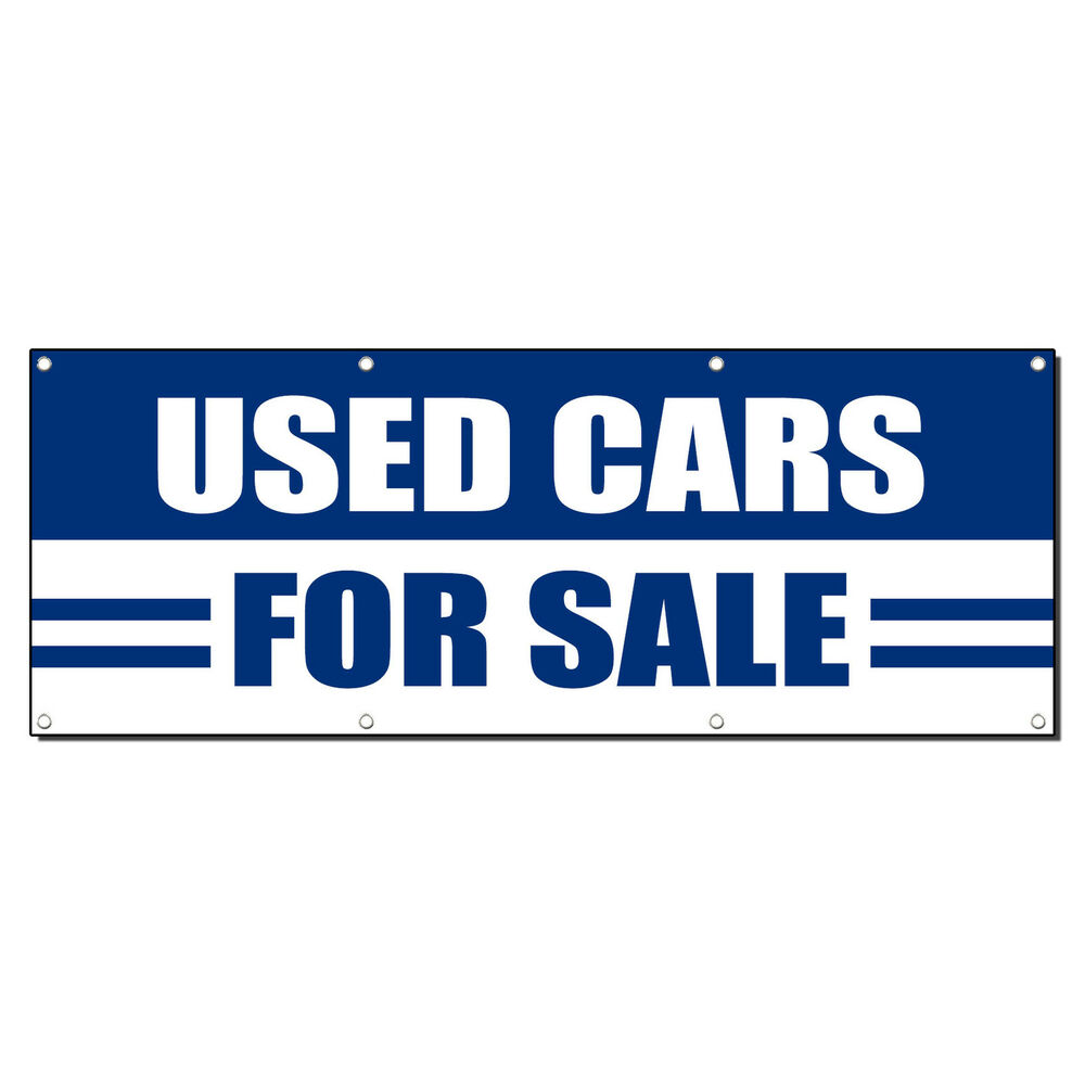 USED CARS FOR SALE AUTO BODY SHOP Banner Sign 4 Ft X 2 Ft