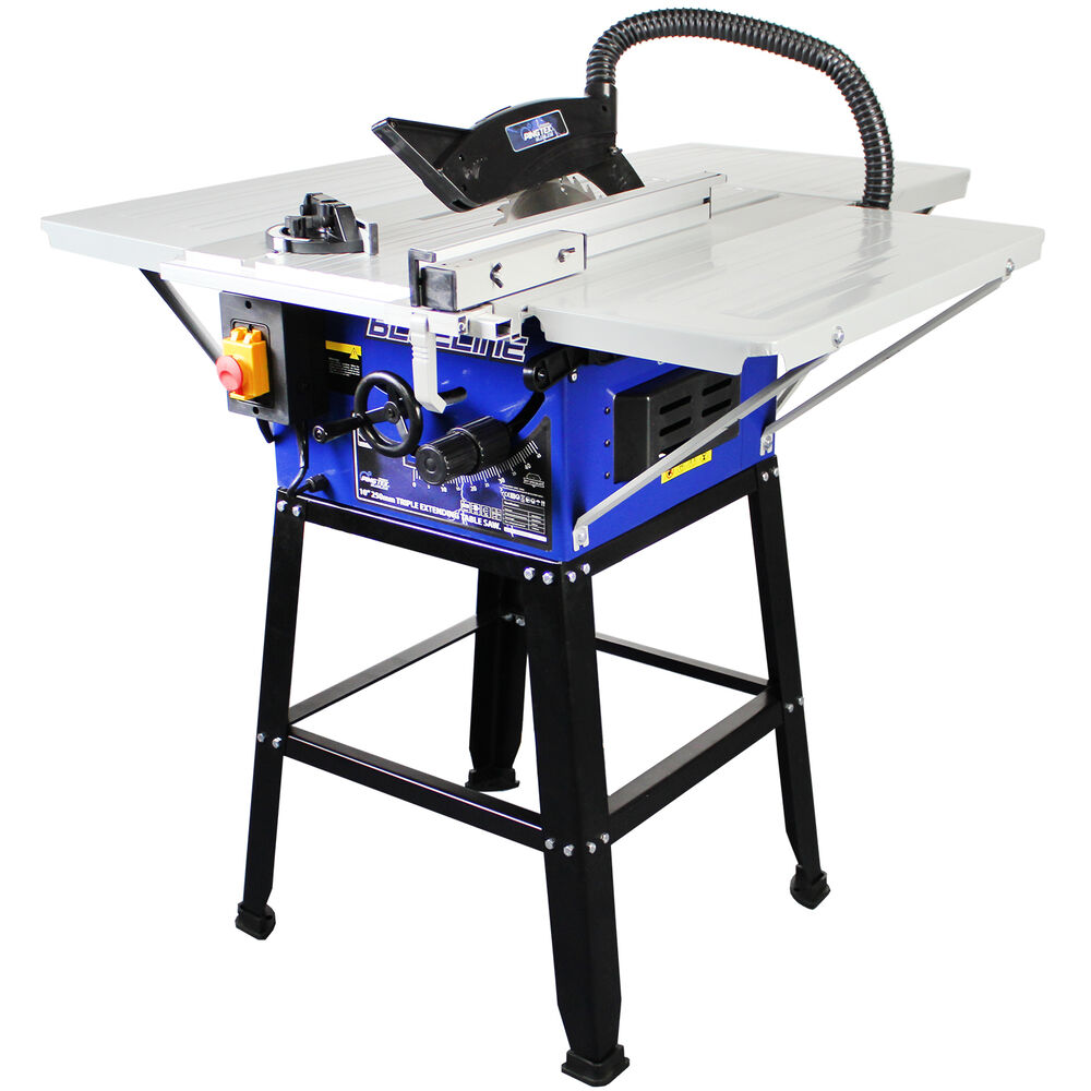 Pingtek Blueline 250mm 10 Bench Table Saw With 3 Extensions Leg Stand Ebay
