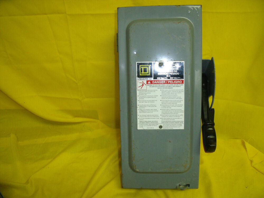 Double Throw 30 Amp 600volt 3pole Type 4x Nonfusible Safety Switch