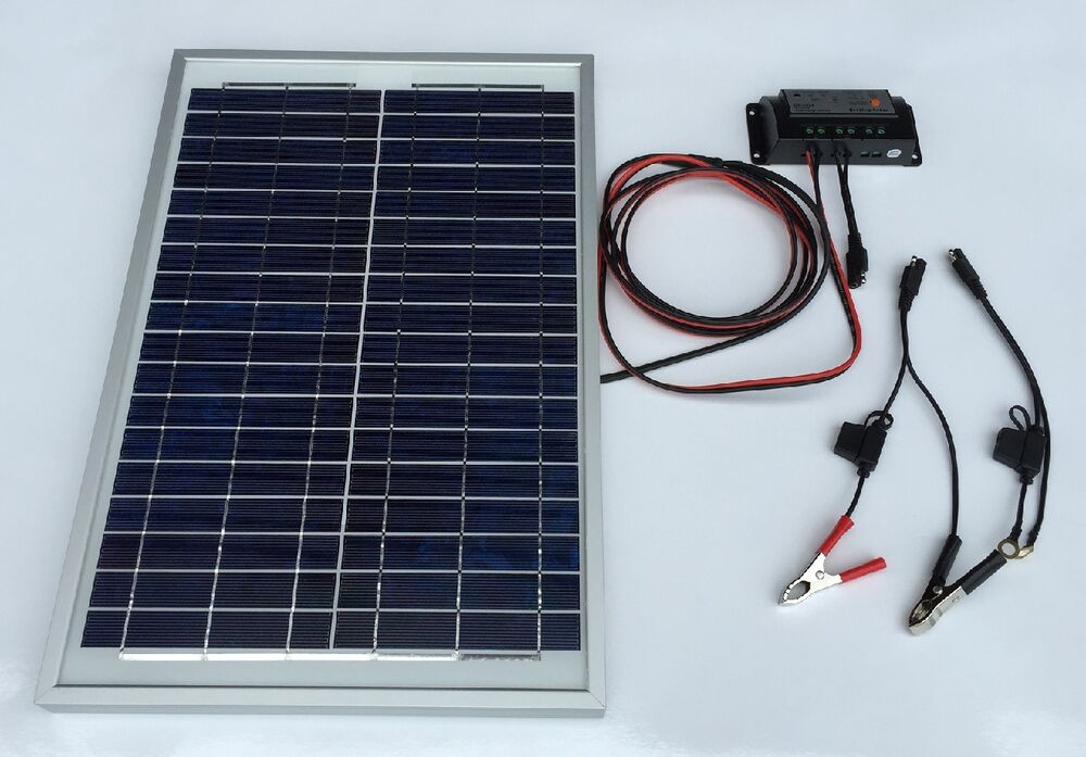 Geoking Solar 20w Poly Crystalline Solar Panel Charger Kit