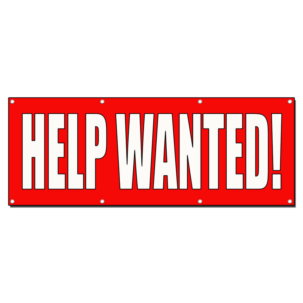 Help Wanted Red Banner Sign 2 Ft X 4 Ft W 4 Grommets Ebay