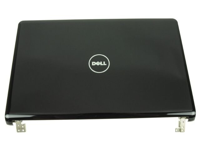 new genuine dell inspiron 1564 lcd back cover with hinges h0r52 0h0r52 grade a ebay. Black Bedroom Furniture Sets. Home Design Ideas