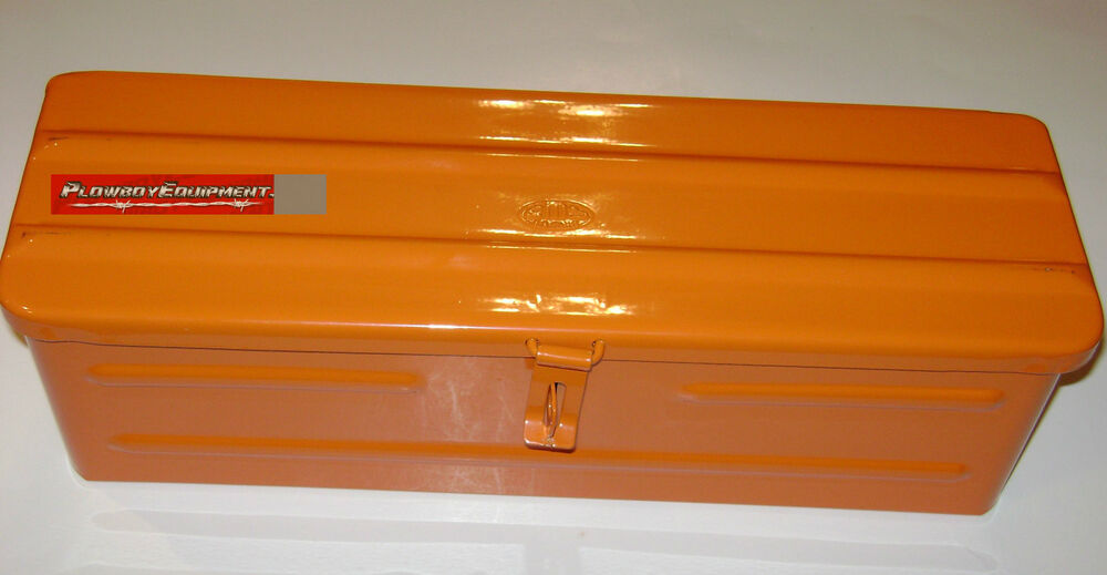 Kubota Tractor Tool Box : A or steel orange tractor tool box for allis chalmers