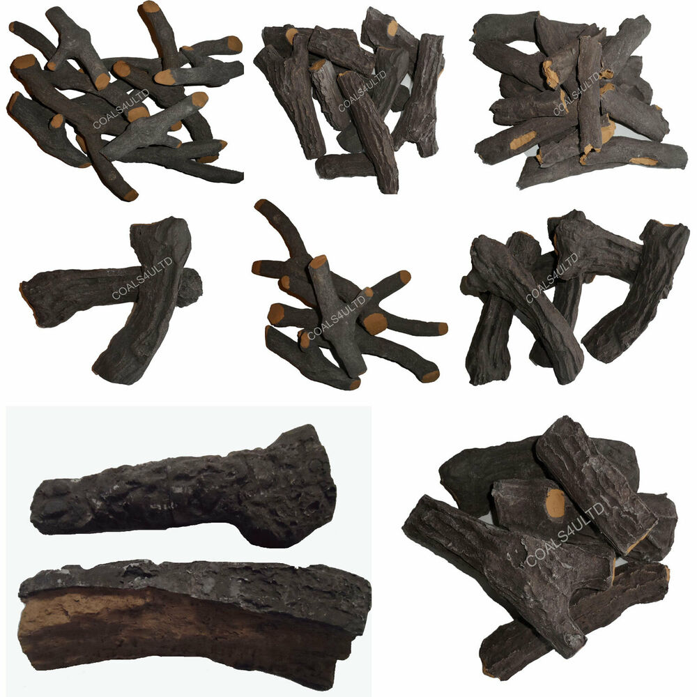 Electric Fire Replacement Log Set Glowing Embers Vermiculite Gas Fires Ebay