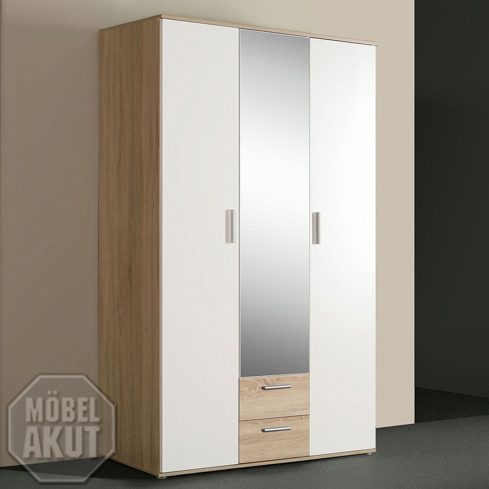 kleiderschrank nano schlafzimmer schrank sonoma eiche wei ebay. Black Bedroom Furniture Sets. Home Design Ideas