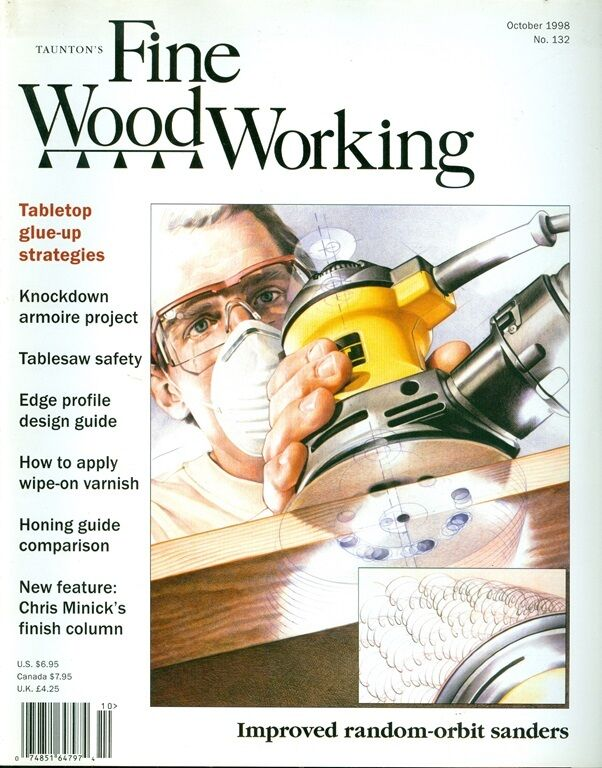 1998 Fine Woodworking Magazine: Tabletop Glue-up/Honing Guides/Armoire ...