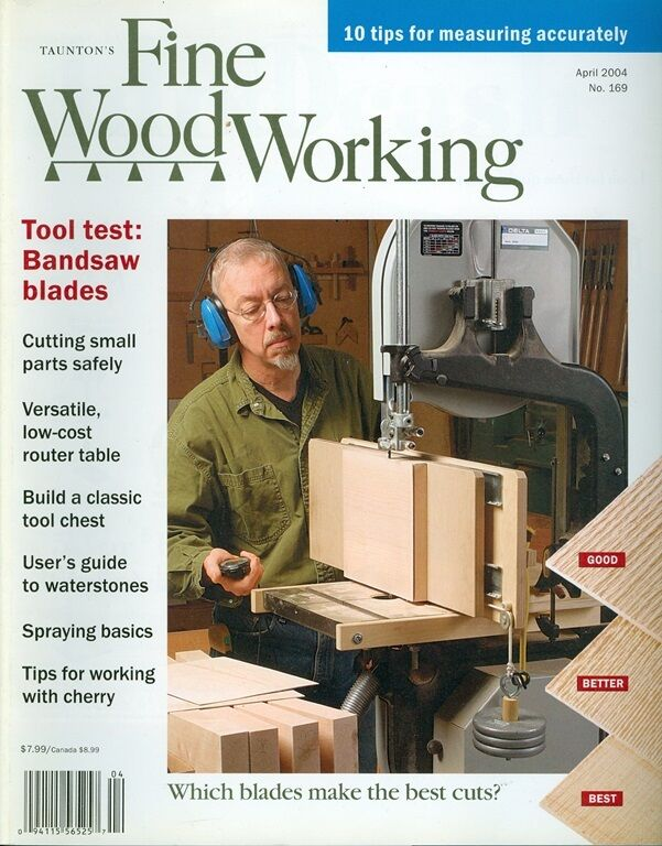 2004 Fine Woodworking Magazine: Bandsaw Blade/Measuring Accurately ...