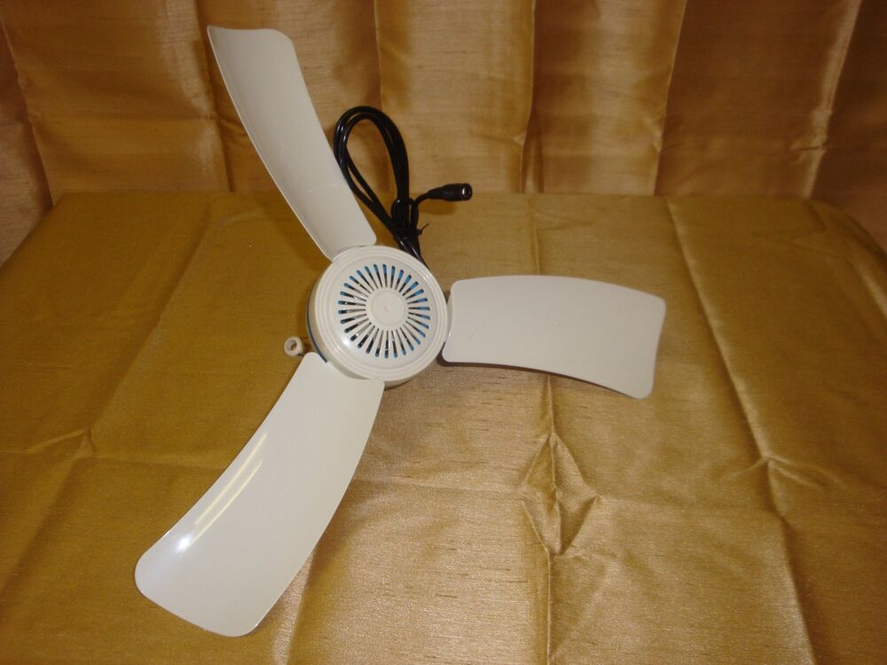 12volt Dc 16 Quot Portable Mini Ceiling Fan Run W Ac Lighter