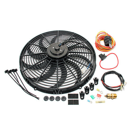 """High CFM Electric Curved S-Blade 16"""" Radiator Cooling Fan"""