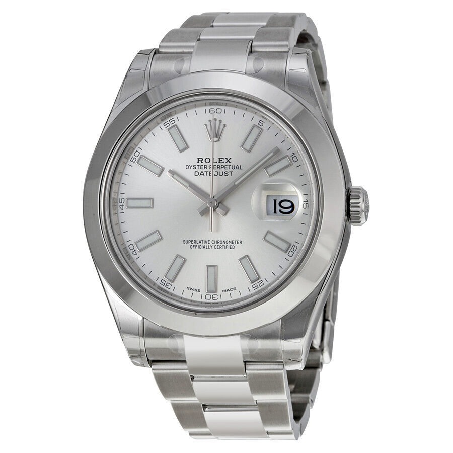 rolex datejust ii automatic silver stainless steel