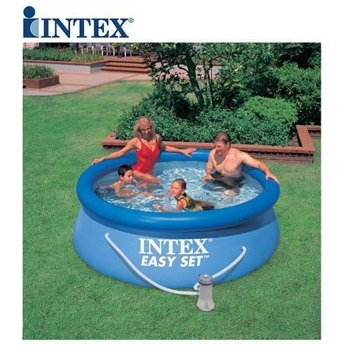 Intex 8ft 8 39 foot easy fast set family childrens swimming for Garden paddling pools