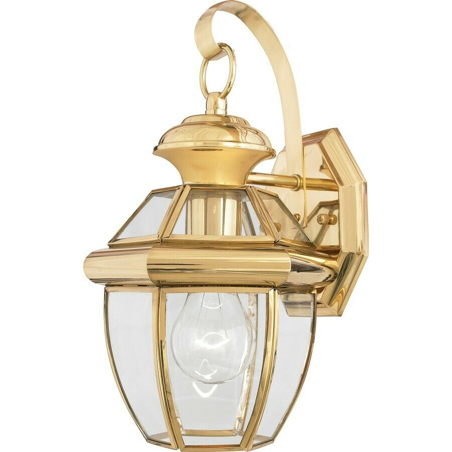 Quoizel 1 Light Newbury Outdoor Wall Lanterns Polished Brass - NY8315B eBay