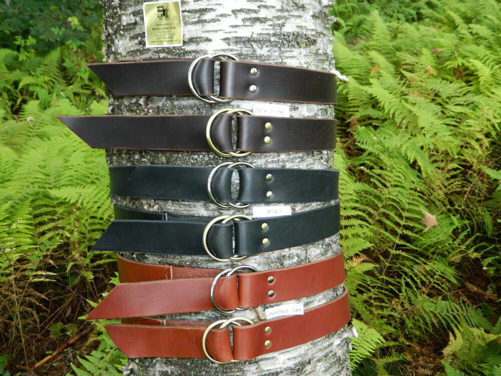 handmade ring leather belt 1 3 4 quot inch