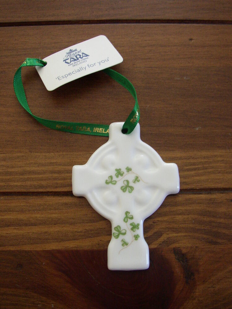 Christmas Ornaments From China : Celtic cross fine bone china christmas ornament royal