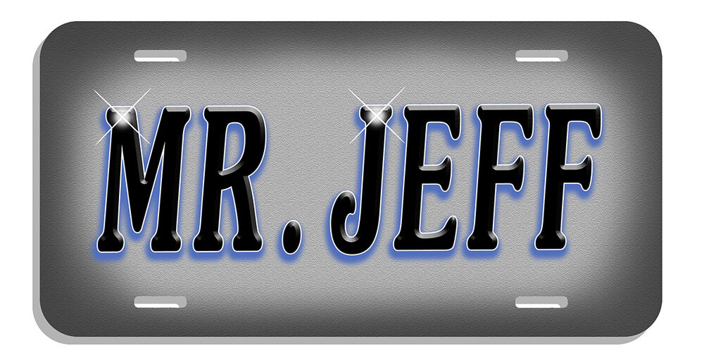 Custom Designed Auto License Plate Personalize Name Or Any