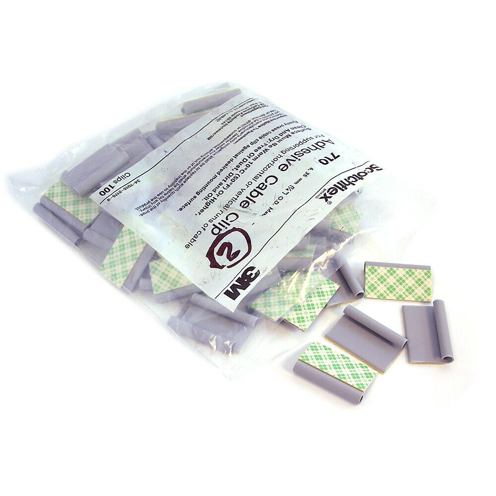 3m Cable Ties : Scotchflex bag of gray adhesive m cable clip model