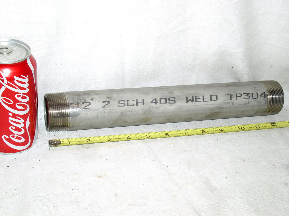 Quot in inch id ss nipple threaded pipe