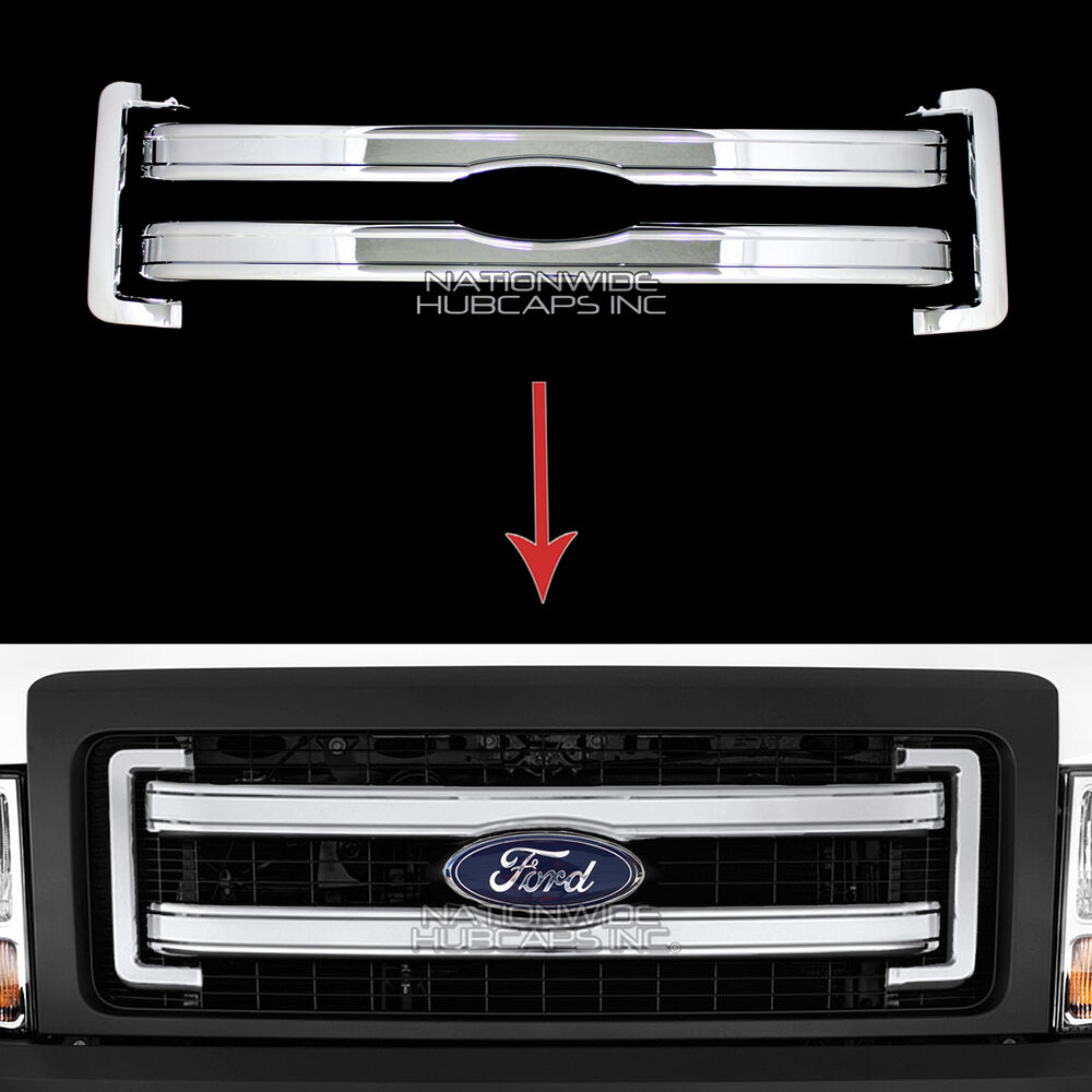 2013 14 Ford F150 Chrome Snap On Grille Overlays Front