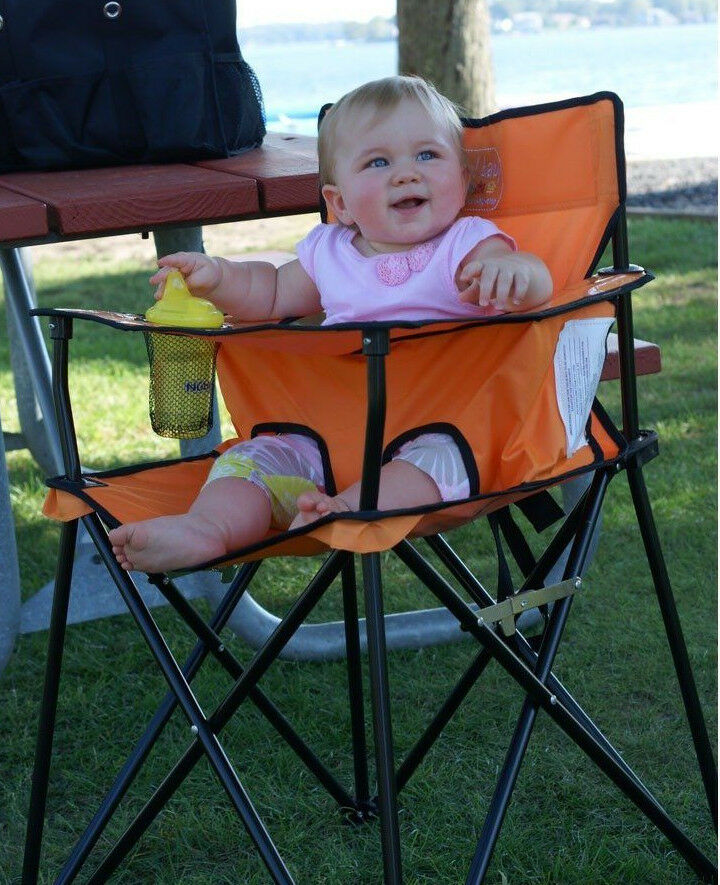 Ciao Baby Orange Portable Highchair Perfect For Travel
