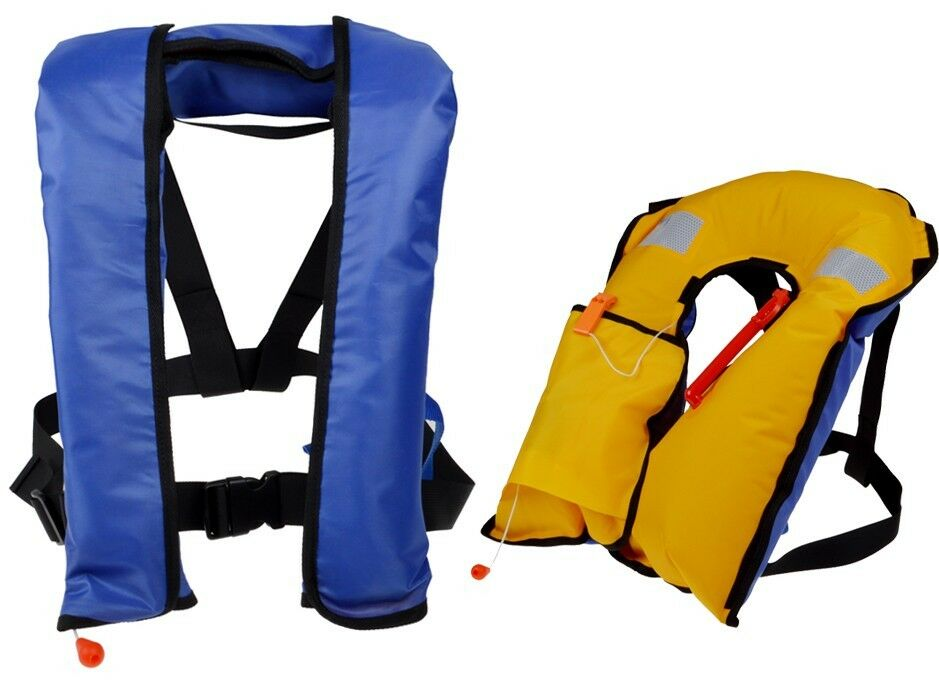 automatic manuel auto inflate inflatable pfd survival buoyancy life jacket vest ebay. Black Bedroom Furniture Sets. Home Design Ideas