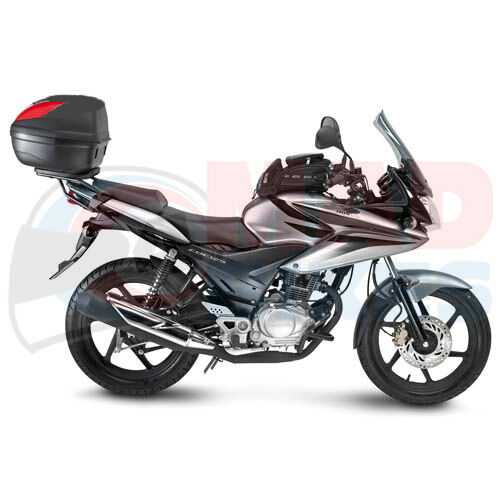 honda cbf125 givi luggage rack sr157 givi e370n top box. Black Bedroom Furniture Sets. Home Design Ideas