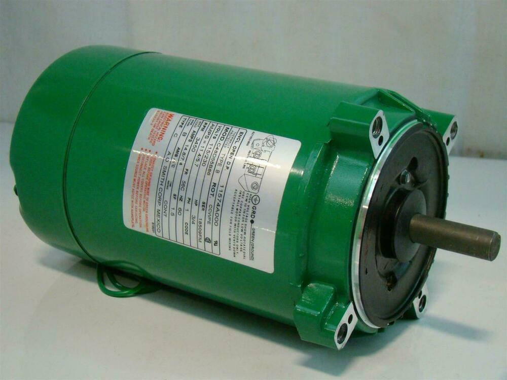 Ao smith 3 4hp electric motor 115 230v 3450 rpm 11574a000 for 3 hp single phase electric motor