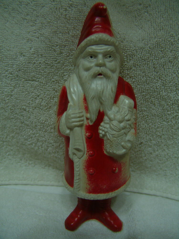 Vintage quot christmas blow mold santa made in usa irwin
