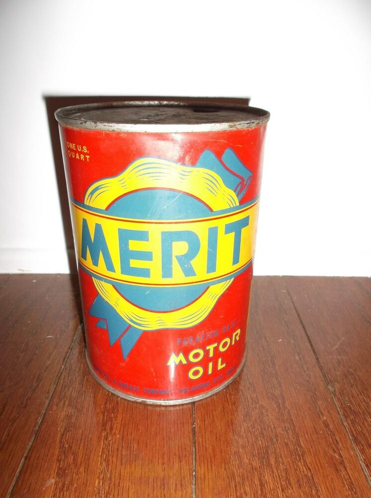 Merit motor oil one quart can ebay for Quart of motor oil