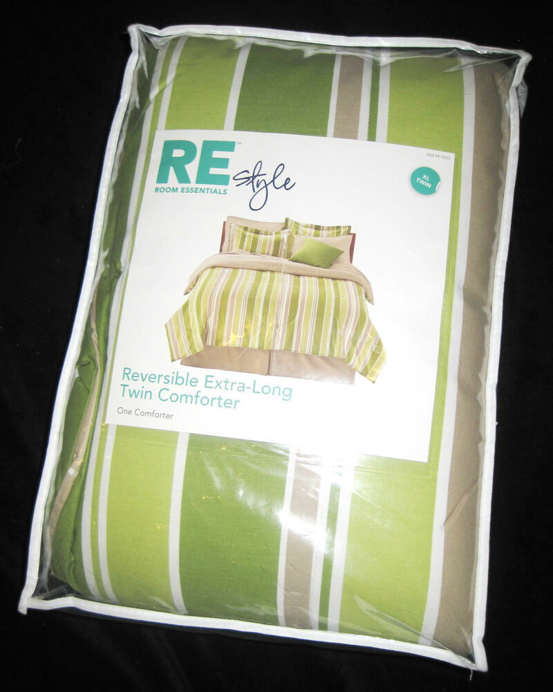 Twin Xl Re Room Essentials Green Khaki Amp White Stripe