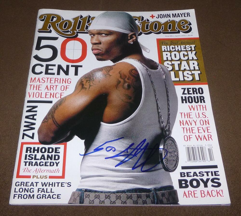 50 Cent Signed Rolling Stone Magazine Issue 919 April 3