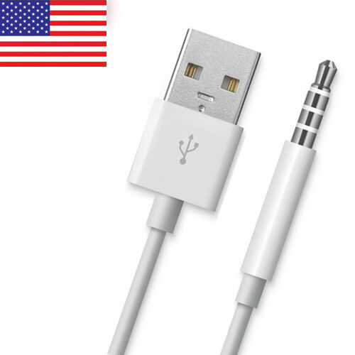 usb data sync charger cable adapter for apple ipod shuffle 5nd 3rd 4th gen ebay. Black Bedroom Furniture Sets. Home Design Ideas