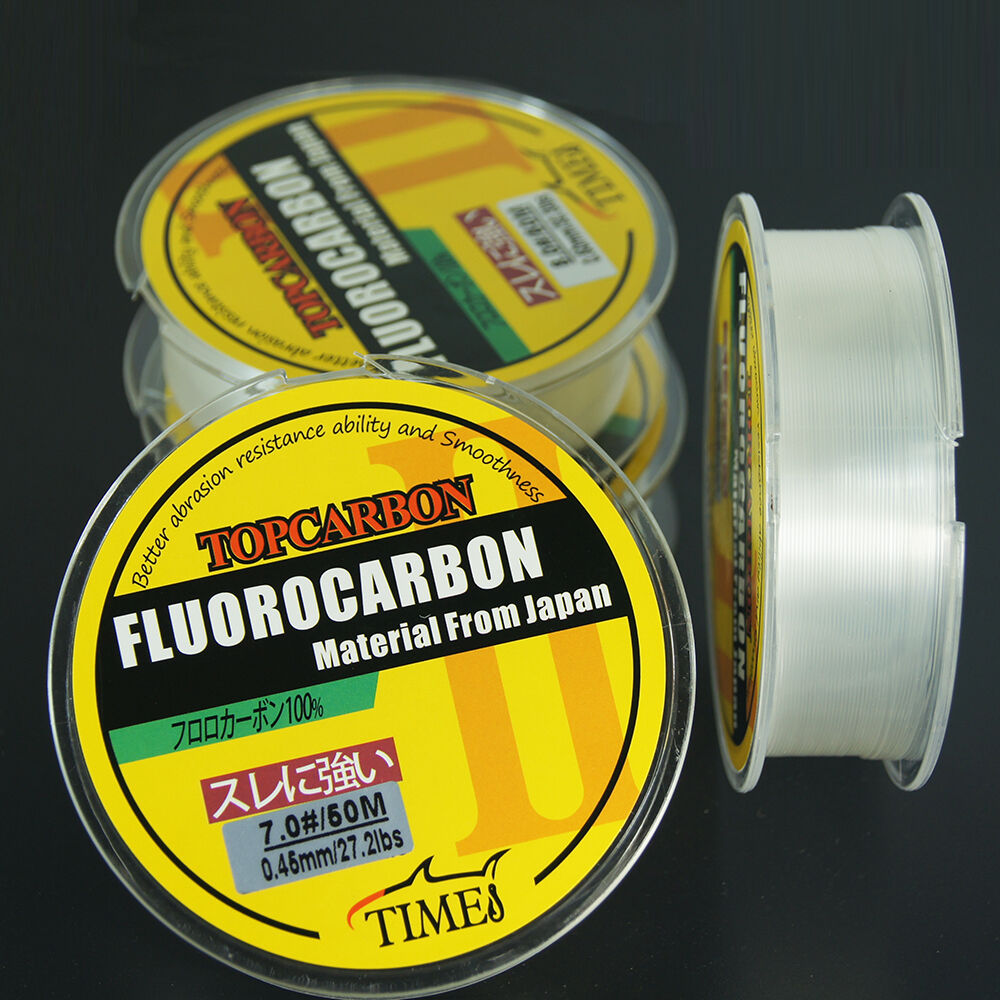 50m times fluorocarbon line leader fishing line 27 2lb 35 for Fishing line leader