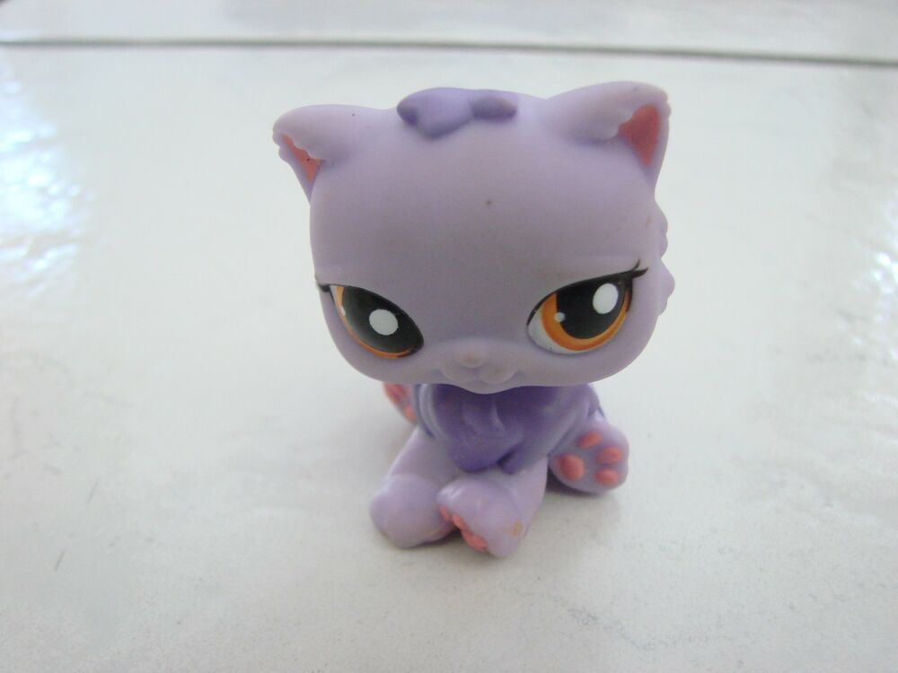 Littlest Pet Shop Cat Persian Purple