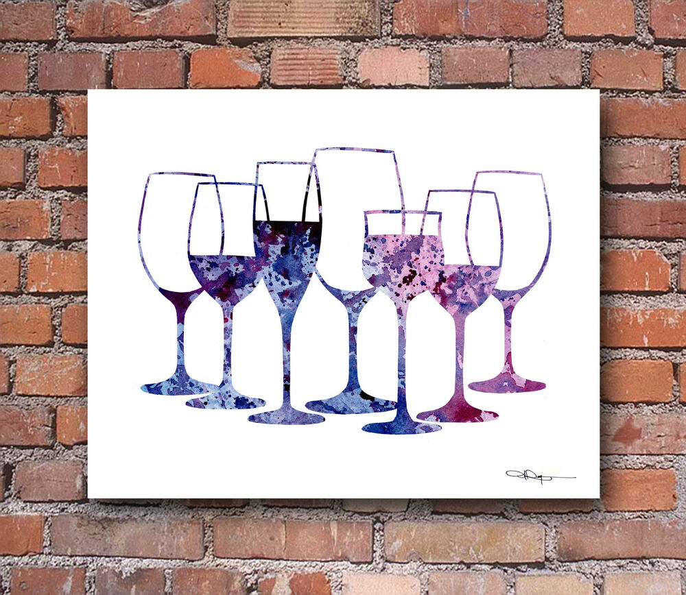 glass painting designs for kitchen wine glasses abstract watercolor painting kitchen 6842