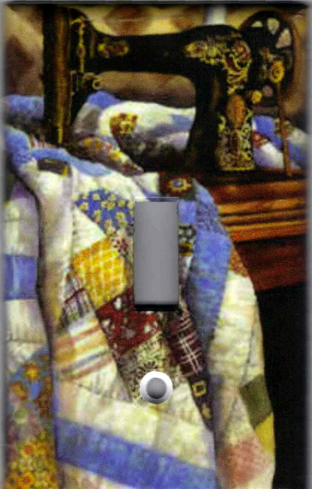 Sewing Machine With Quilt Home Wall Decor Light Switch