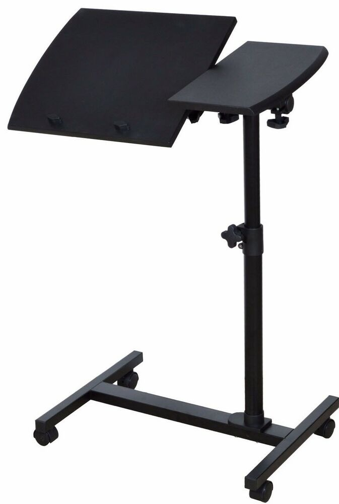 Angle Height Adjustable Rolling Laptop Notebook Desk Over Sofa Bed Table Stand Ebay