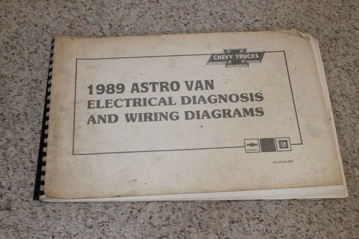 1989 Chevrolet Astro Van Electrical Diagnosis  U0026 Wiring Diagrams