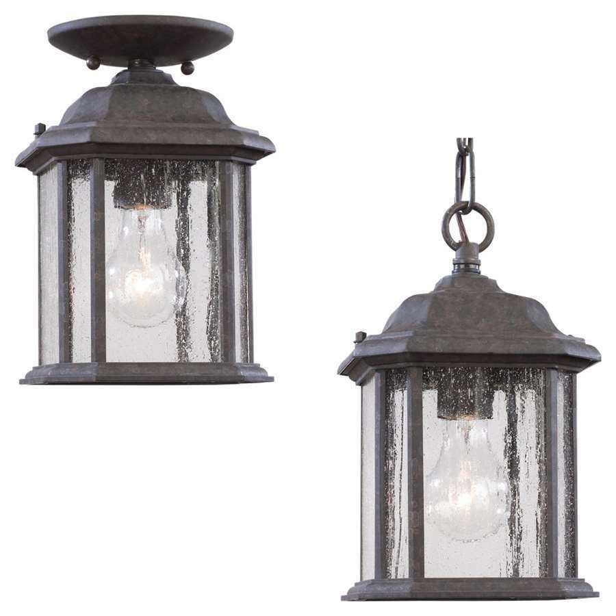Sea gull lighting single light kent outdoor pendant in for Hanging outdoor light fixtures